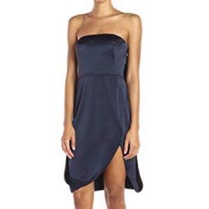Halston Heritage Strapless Slip Evening Dress Blue